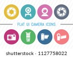 flat ui 8 color camera icon set....
