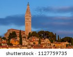cityscape of rovinj town at... | Shutterstock . vector #1127759735
