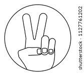 peace symbol design | Shutterstock .eps vector #1127761202