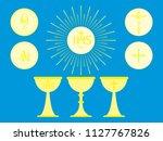 christian liturgical objects.... | Shutterstock .eps vector #1127767826