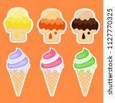 collection of stickers with ice ...   Shutterstock . vector #1127770325