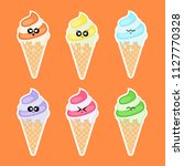 collection of stickers with ice ...   Shutterstock . vector #1127770328