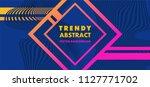 hipster modern geometric... | Shutterstock .eps vector #1127771702