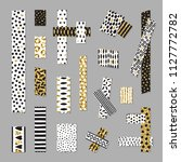 scotch tape pieces vector set....   Shutterstock .eps vector #1127772782