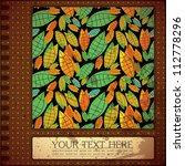 retro floral card | Shutterstock .eps vector #112778296