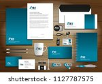 corporate identity business ... | Shutterstock .eps vector #1127787575