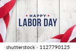 Happy labor day text over white ...