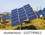 field of solar panel energy...   Shutterstock . vector #1127790812