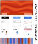 light blue  red vector web ui...