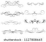 set of decorative florish... | Shutterstock .eps vector #1127808665