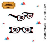 set of 3d glasses with... | Shutterstock .eps vector #1127813525