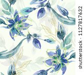 floral seamless pattern....   Shutterstock . vector #1127817632