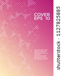 vector cover page layout.... | Shutterstock .eps vector #1127825885