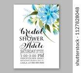 hibiscus hawaii wedding... | Shutterstock .eps vector #1127828048