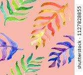 watercolor hand drawn summer... | Shutterstock . vector #1127828855