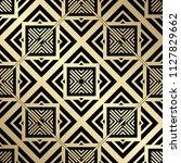 art deco pattern. seamless... | Shutterstock .eps vector #1127829662