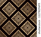 art deco pattern. seamless... | Shutterstock .eps vector #1127829695