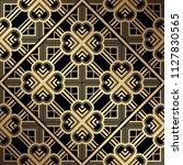 art deco pattern. seamless... | Shutterstock .eps vector #1127830565