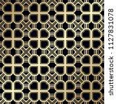 art deco pattern. seamless... | Shutterstock .eps vector #1127831078