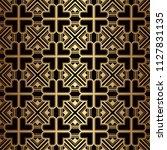 art deco pattern. seamless... | Shutterstock .eps vector #1127831135