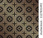 art deco pattern. seamless... | Shutterstock .eps vector #1127831492