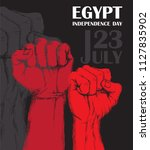 independence day of egypt. july ... | Shutterstock .eps vector #1127835902