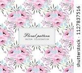 flower seamless pattern vintage ...   Shutterstock .eps vector #1127837516