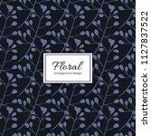 flower seamless pattern vintage ...   Shutterstock .eps vector #1127837522
