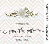 floral wedding invitation design   Shutterstock .eps vector #1127838392