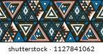 indian geometric folklore... | Shutterstock .eps vector #1127841062