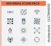 robotics icons set with loop...   Shutterstock .eps vector #1127844035