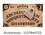 ouija board isolated on white... | Shutterstock . vector #1127844725