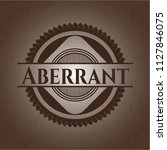 aberrant badge with wooden...   Shutterstock .eps vector #1127846075