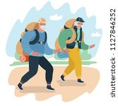 vector cartoon illustration of... | Shutterstock .eps vector #1127846252