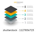 infographic label design with 5 ... | Shutterstock .eps vector #1127856725