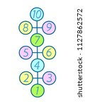 illustration with hopscotch... | Shutterstock .eps vector #1127862572