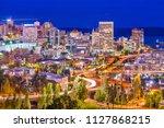 tacoma  washington  usa skyline ... | Shutterstock . vector #1127868215