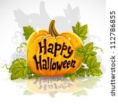 happy halloween cut out pumpkin ... | Shutterstock .eps vector #112786855