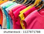 beautiful colors of thai silk... | Shutterstock . vector #1127871788