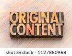 original content    word... | Shutterstock . vector #1127880968