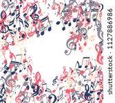 musical symbols. creative... | Shutterstock .eps vector #1127886986