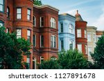 row houses at seward square  in ... | Shutterstock . vector #1127891678