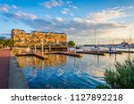 docks and waterfront... | Shutterstock . vector #1127892218