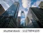 modern skyscrapers in center... | Shutterstock . vector #1127894105