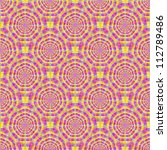 Seamless Pink and Yellow Rings/Digital abstract image with a seamless, tiled radiating circle design in pink and yellow. - stock photo