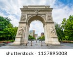 the arch at washington square... | Shutterstock . vector #1127895008