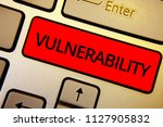 text sign showing vulnerability.... | Shutterstock . vector #1127905832