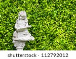 Ancient Statues And Leaves...