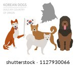 dogs by country of origin.... | Shutterstock .eps vector #1127930066