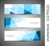 abstract blue colorfull header... | Shutterstock .eps vector #112793122